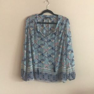 EUC Sheer blouse by Rose & Olive